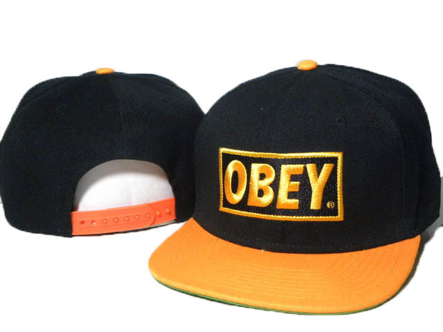 Obey Black Snapback Hat DD
